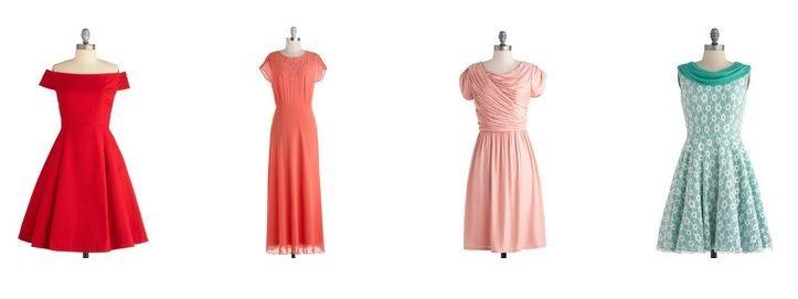 Modcloth Vintage Bridesmaids Dresses