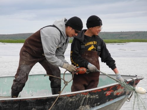 Alaskan fishermen in Bristol Bay