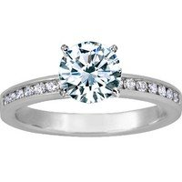 Petite Channel Set Round Diamond Ring