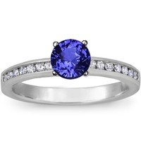 Sapphire Petite Channel Set Engagement Rings