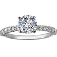 Luxury Engagement Rings: Shared Prong Ring