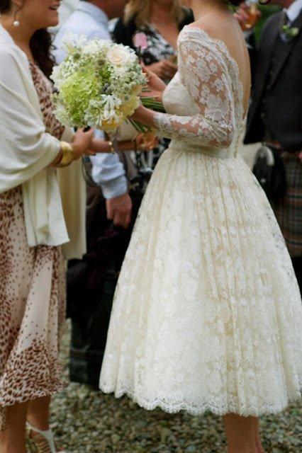 Vintage Wedding Ideas- Christine's homemade dress