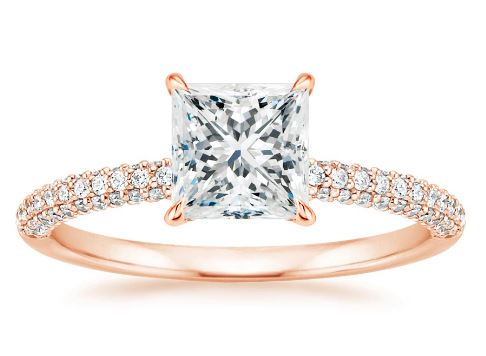 Dazzling Princess Cut Engagement Rings  f050c2037