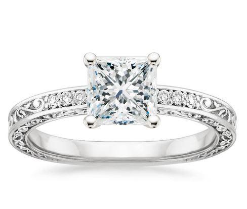 princess cut engagement ring styles - Princes Cut Wedding Rings