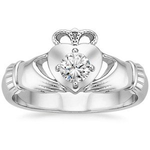 Claddagh Diamond Ring