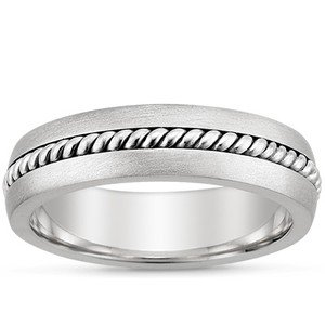 Entwined Inlay Wedding Ring