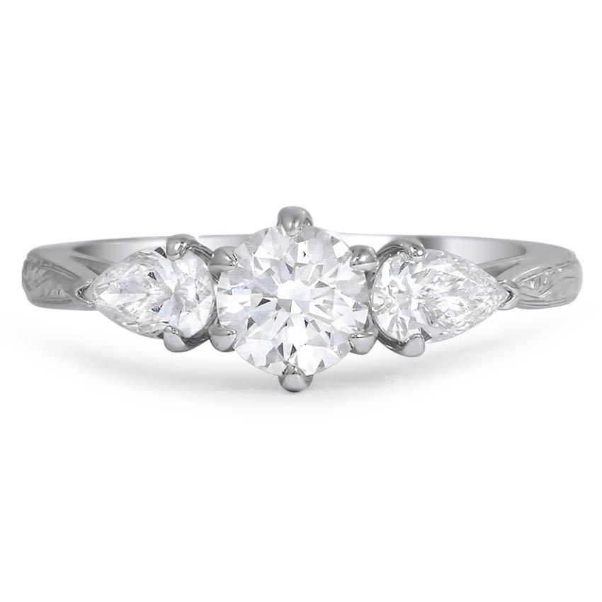 pear accent custom ring