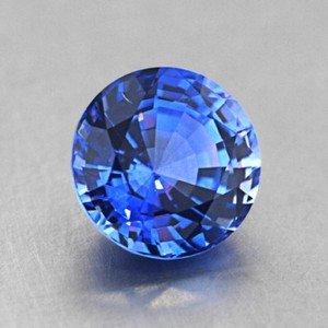 Mykonos Blue! 6.5mm Blue Round Sapphire