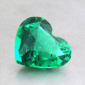 6.5x5.9mm Heart Emerald