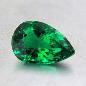 7x4.9mm Pear Shaped Emerald