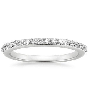 Women's white gold diamond wedding band