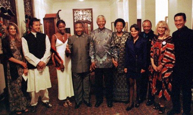 Mandela party photo