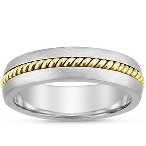 mens mixed wedding bands