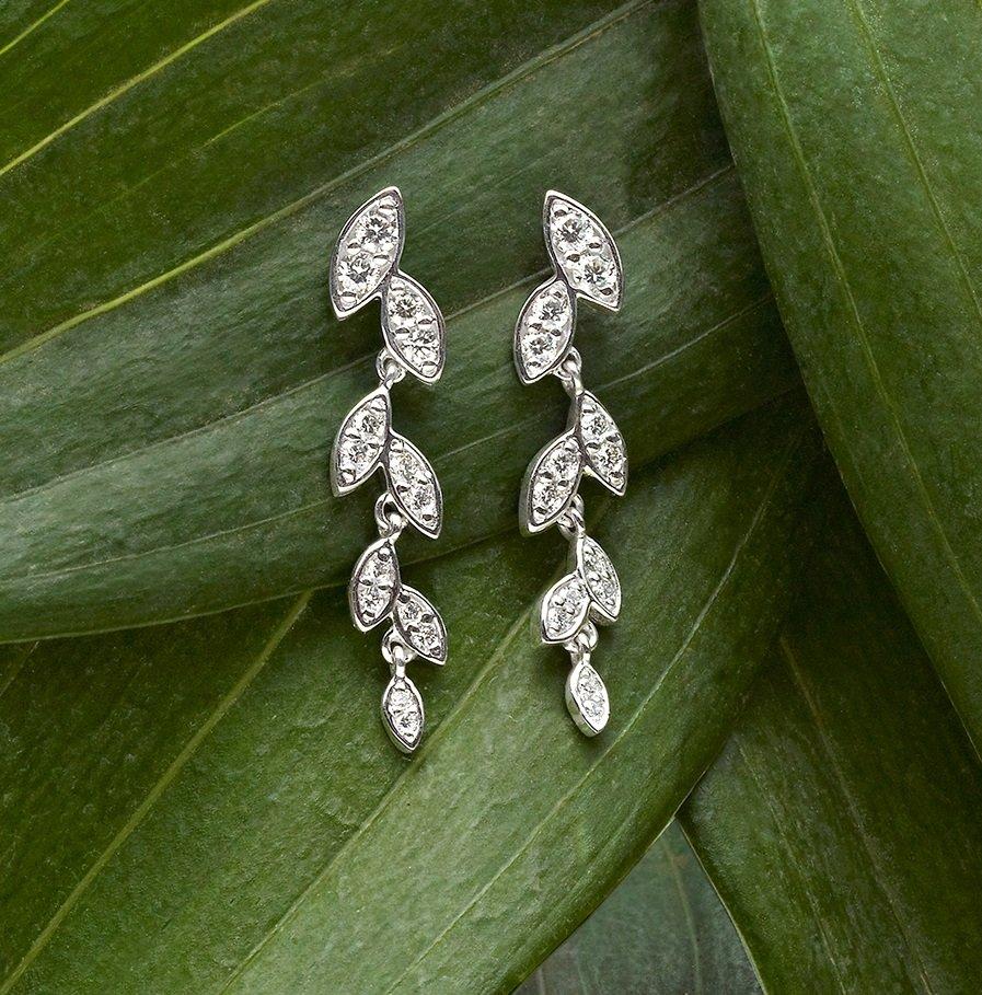 Wisteria Diamond Earrings