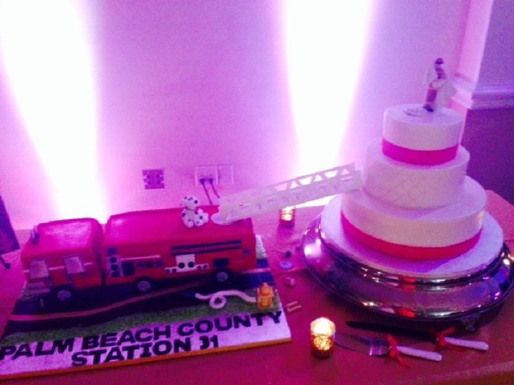 Fire Truck Groom's Cake 2