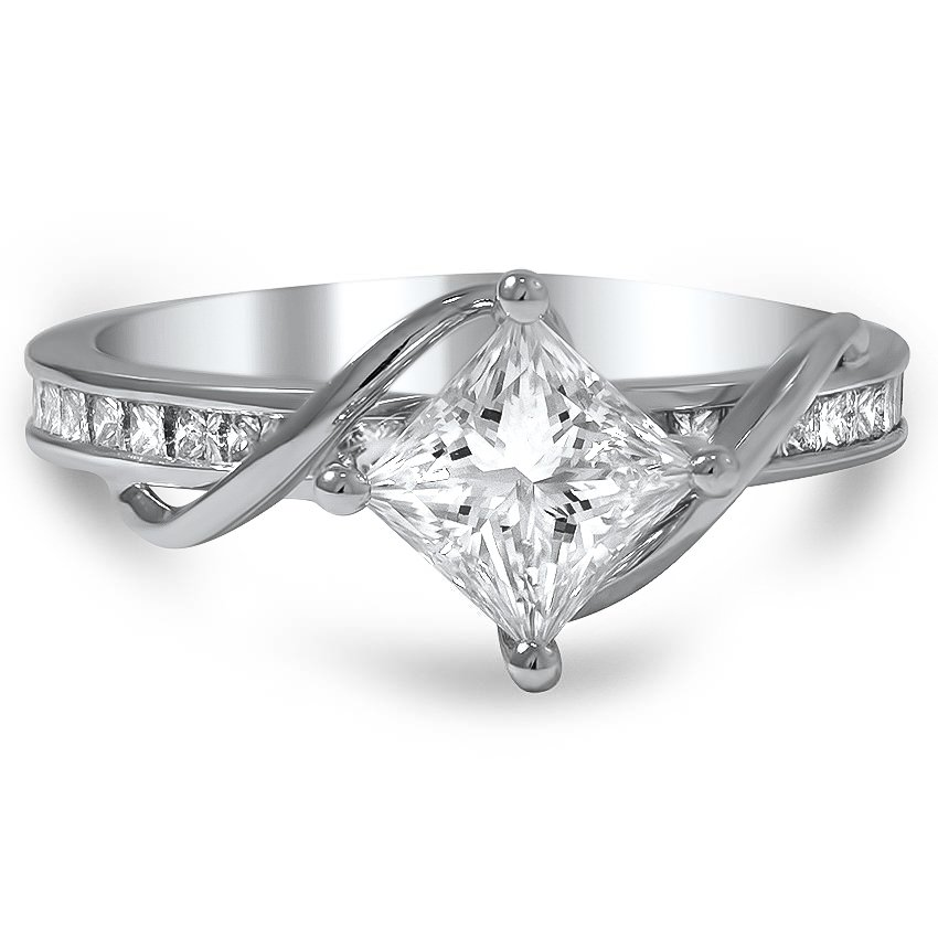 compass point princess diamond ring