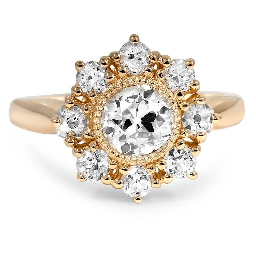 vintage style cluster halo diamond ring
