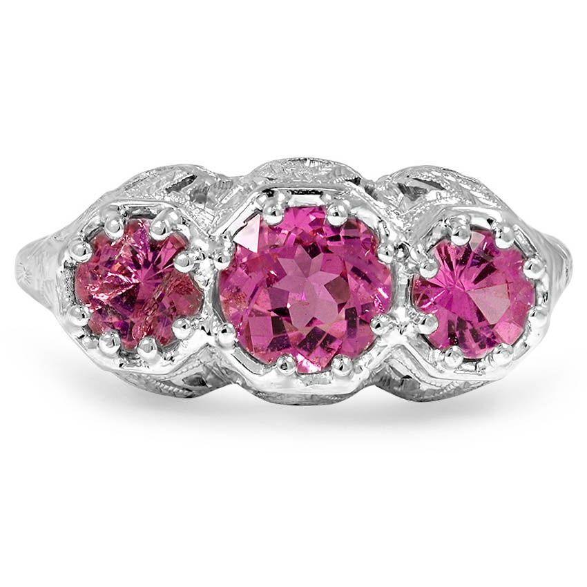 Florance antique sapphire engagement ring