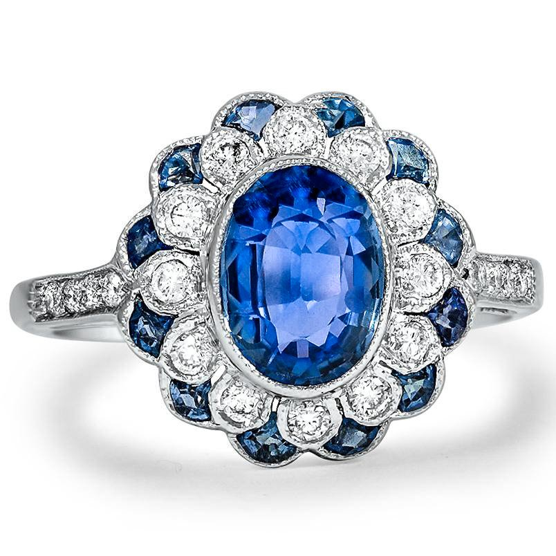 Kate antique sapphire engagement ring