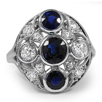 Melisende antique sapphire engagement ring