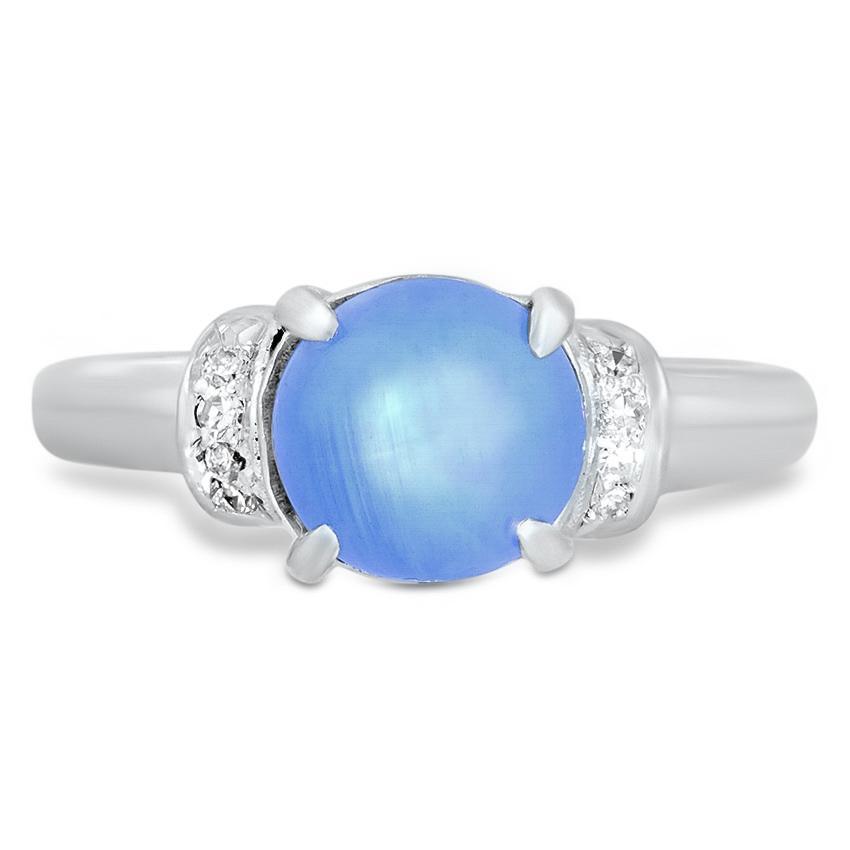 Vernetta antique sapphire engagement ring
