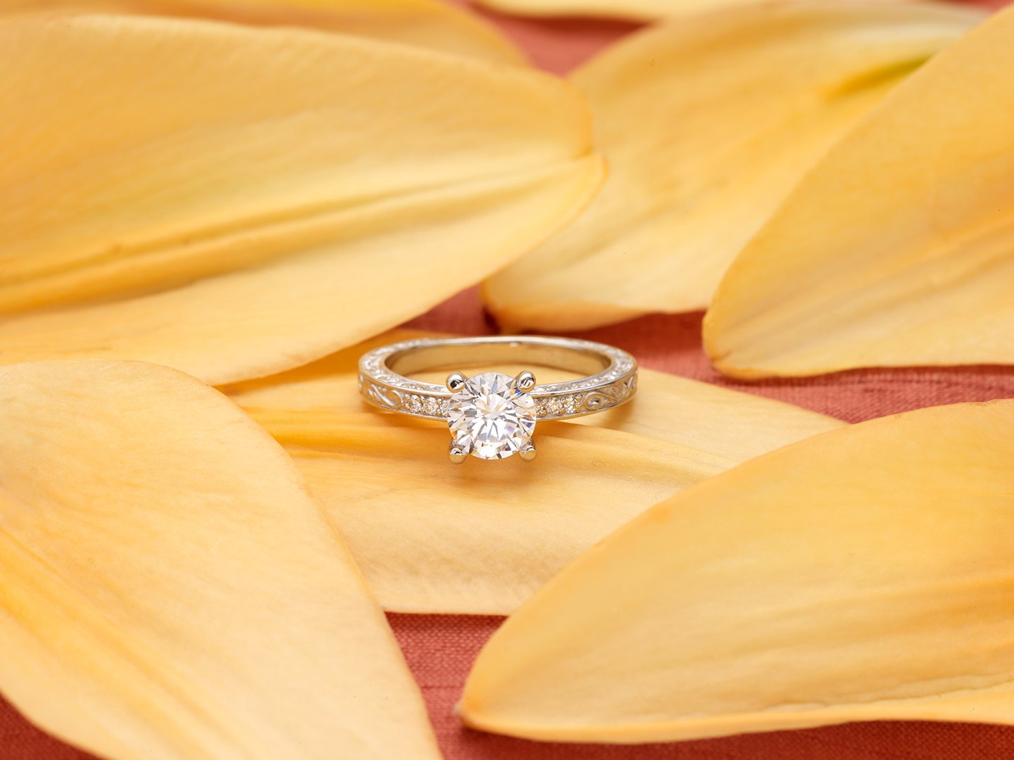 Brilliant earth vintage wedding rings