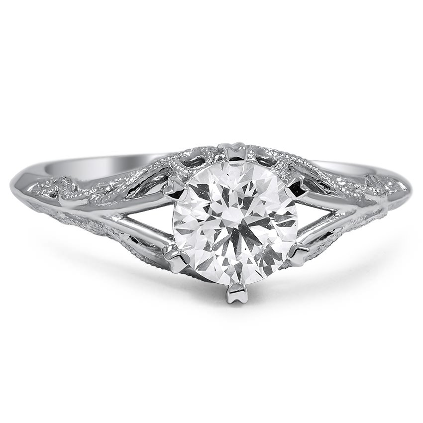 sheridan filligree with diamond rings round tip filigree open set engagement product ring