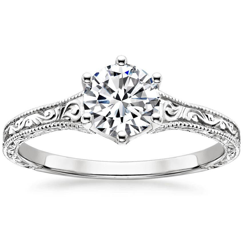 engagement diamond filigree filligree vintage signature rings inspired kirk kara up by