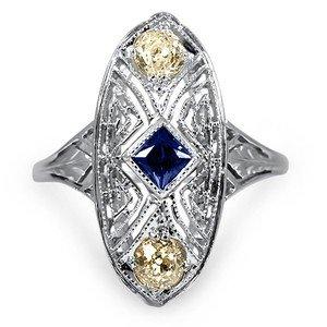 Baltonia Art Deco Engagement Ring