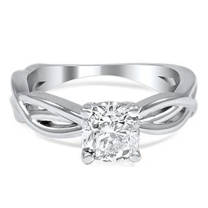 Dynamic Twist Solitaire Ring