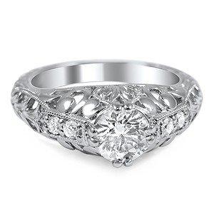 Vintage Inspired Diamond Filigree Ring