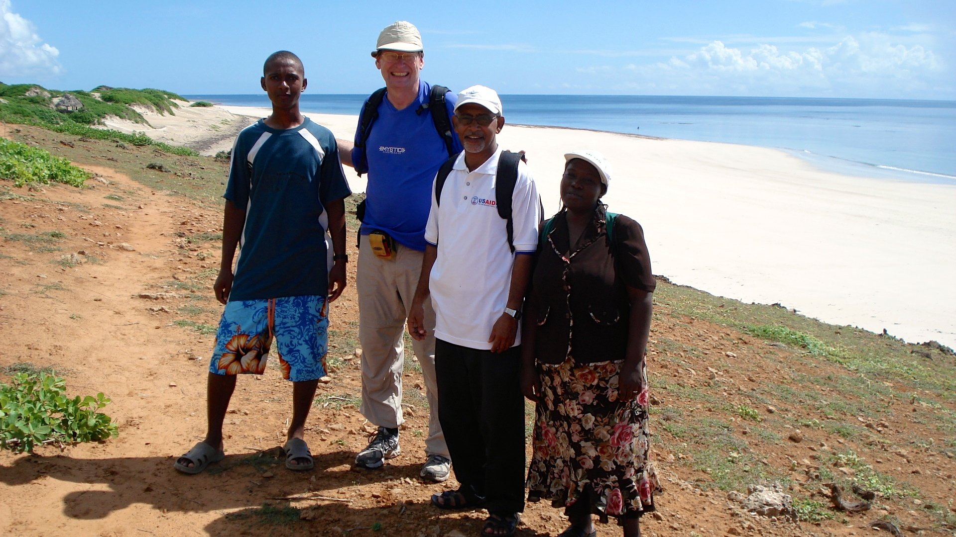 Mark with friends and colleagues on Kiwayu Island in Kenya
