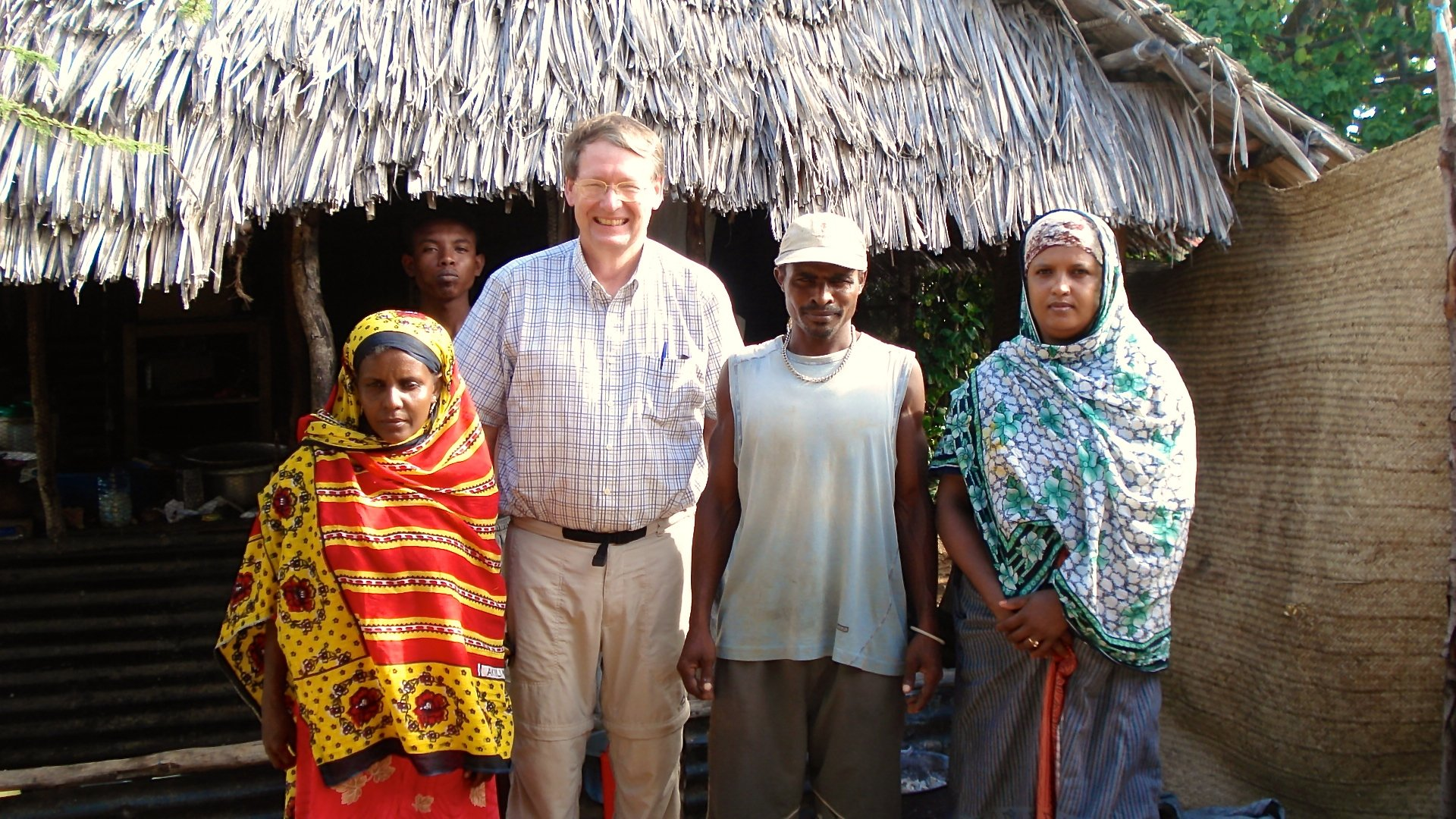 Mark on Kiwayu Island in Kenya where he was studying land tenure issues.
