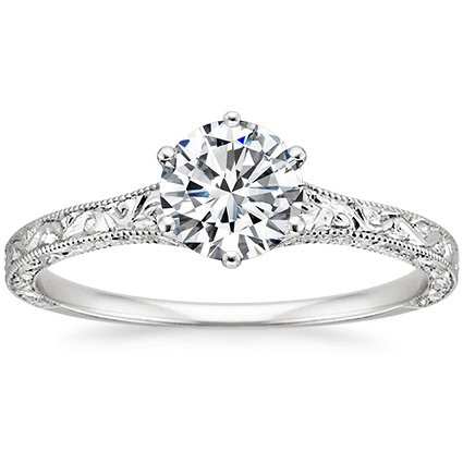 Hudson Detailed Engagement Ring
