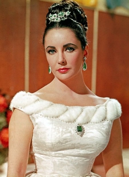 Elizabeth Taylor in Emeralds
