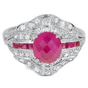 Natessa Ruby Retro Ring