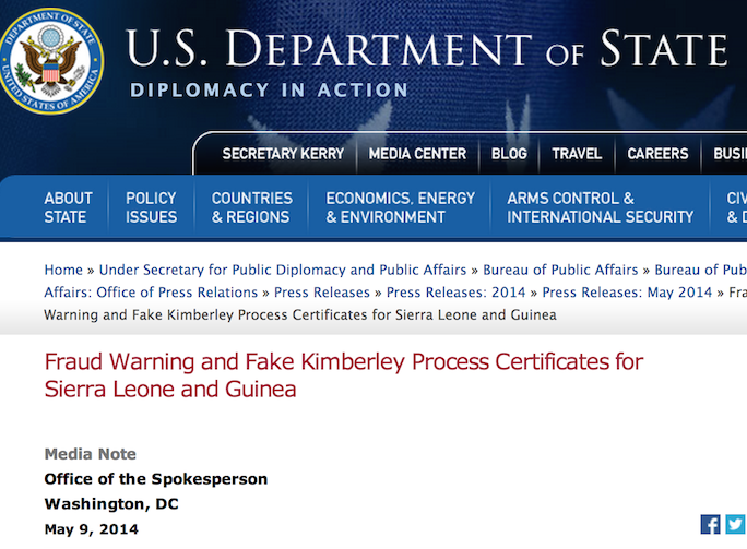 State Department KP Warning