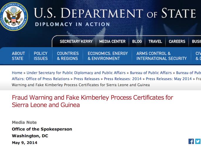 State Department KP Warning