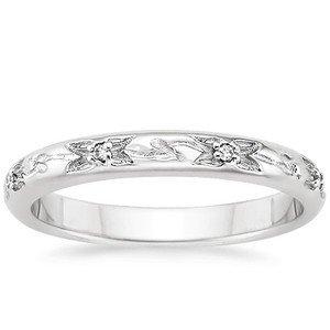 Flower Bud Wedding Ring