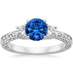 antique scroll sapphire