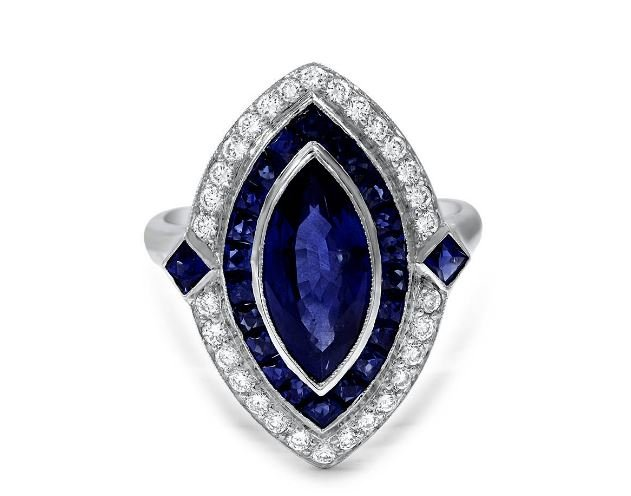 Sapphire Diamond Ring Antique