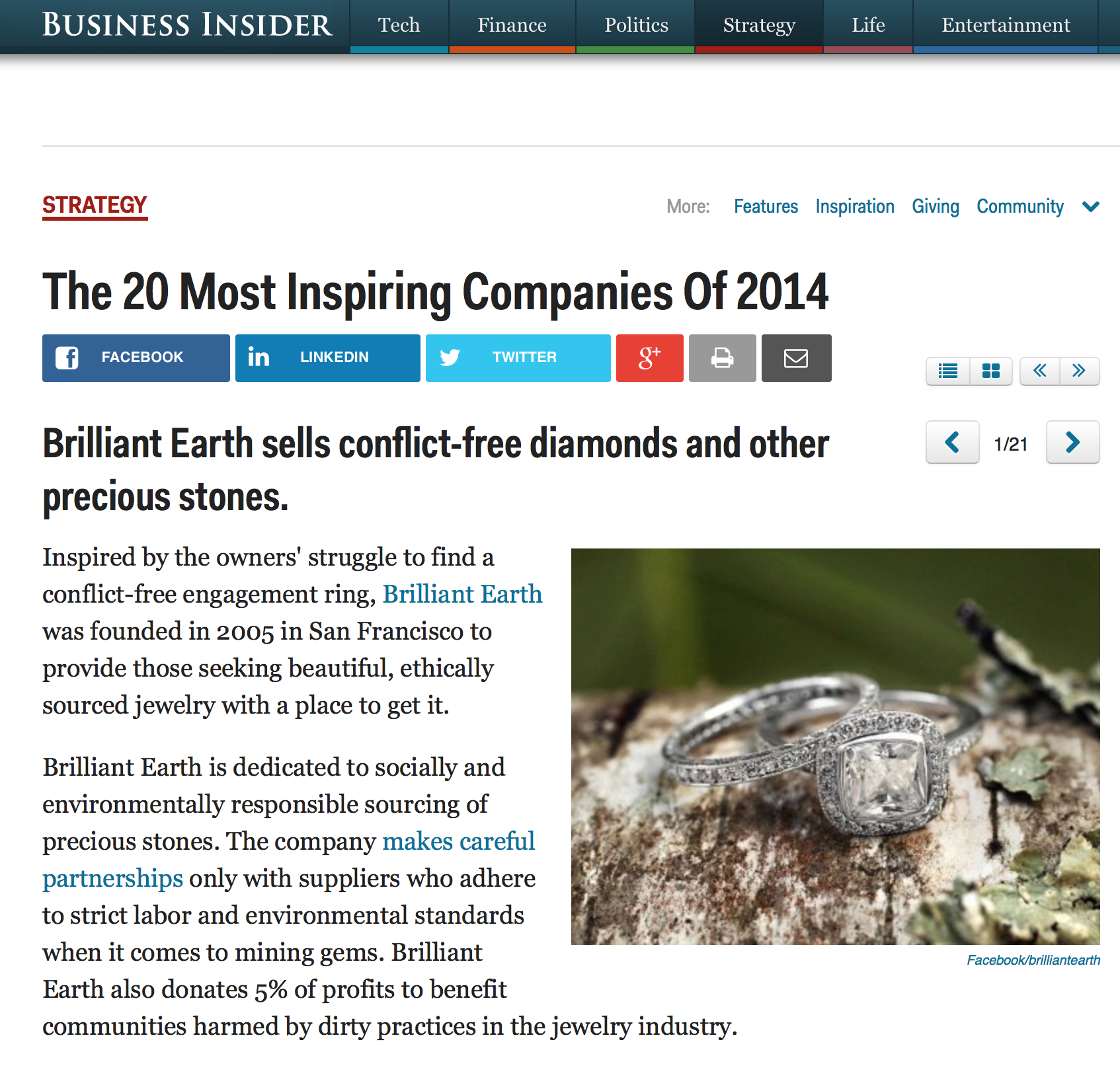 Business Insider's 20 Most Inspiring Companies of 2014