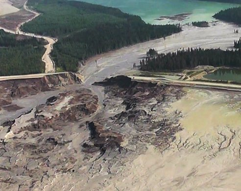 Cariboo Regional District photo of Mount Holley spill