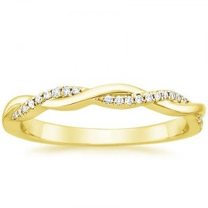 petite twisted vine band yellow gold