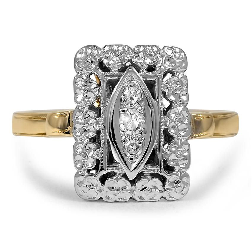 Danelle Retro Engagement Ring