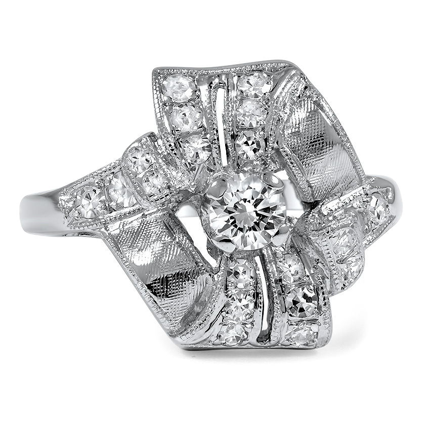 Letitia Retro Engagement Ring
