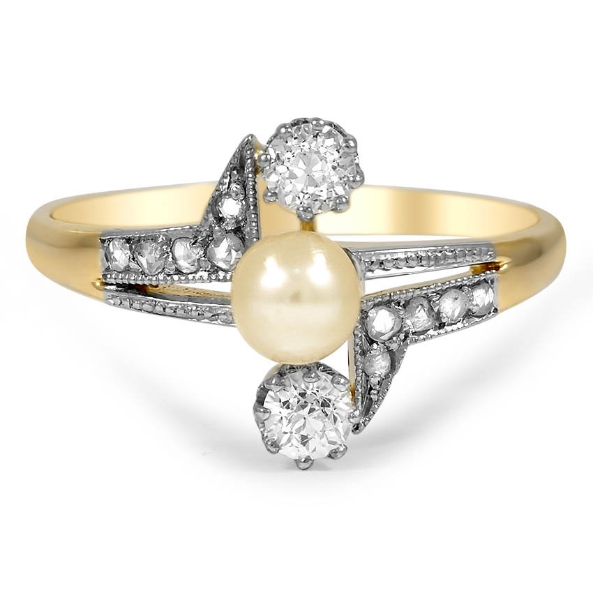 Elouise Art Deco Engagement Ring
