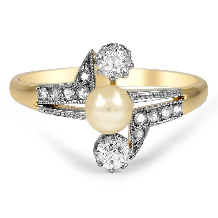 Elouise Art Deco Engagement Ring