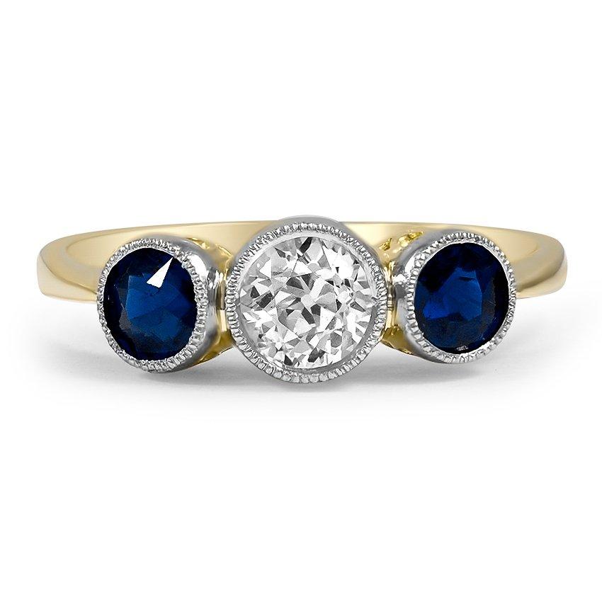 Romona Art Deco Engagement Ring