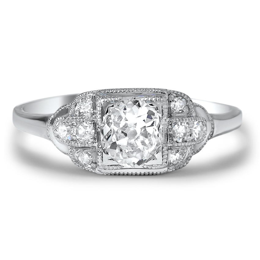 Shanti Art Deco Engagement Ring
